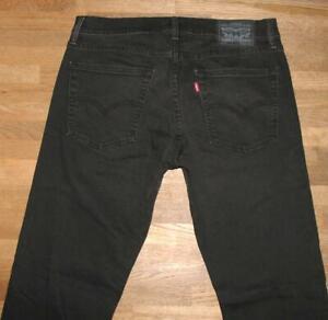 """>>> """" Levi `S 513 """" D'Homme Jeans / Levis Bleu Jeans en Noir En W32 """" / L34 """""""
