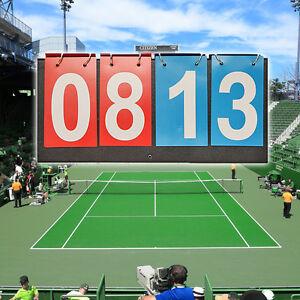 Sports Flip Scoreboard 99 Score Portable Multi-Purpose File Style Accessory