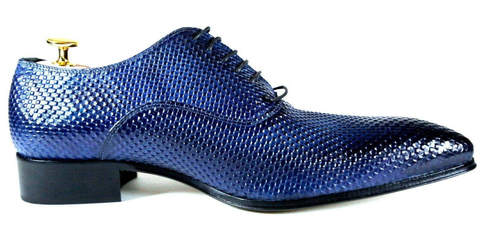 Ivan Troy Blau Handmade Italian Leather Leather Leather Dress schuhe Oxford Office schuhe  42, 43 f07bbc