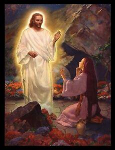 "Jesus Has Risen"" Mary Kneels Art Print (16"" x 12"") By Ralph Pallen Coleman | eBay"