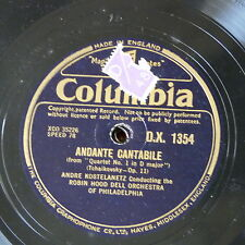 """78rpm 12"""" ANDRE KOSTALENETZ & ROBIN HOOD DELL ORCH tchaikowsky andante cantabile"""