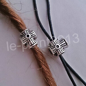 Bead Bartschmuck Haarperle Anhänger Schmuck Silber Kreuz Keltisch Kelten