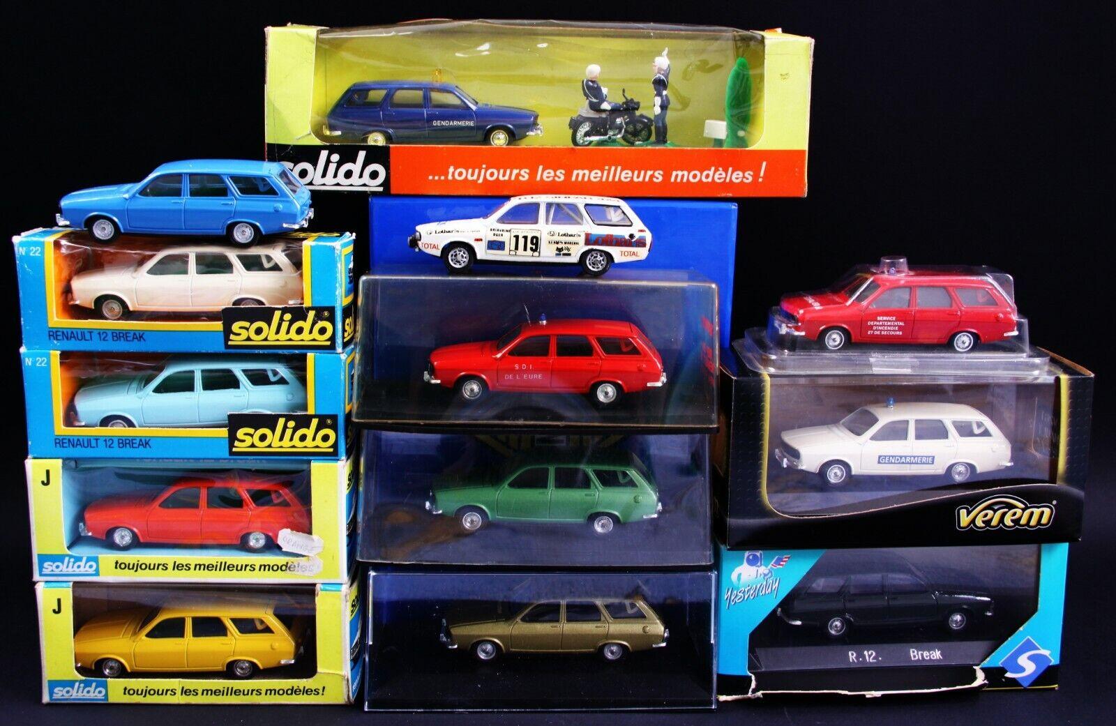 punto de venta Lot of 13 13 13 pcs. of Renault 12 Break 1 43 Solido  edición limitada