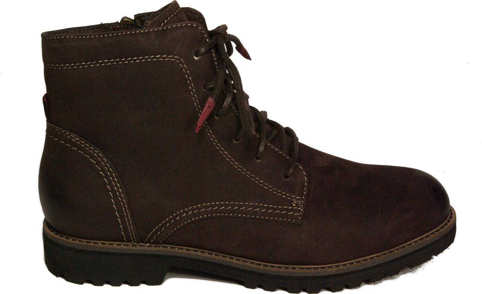 Tamaris zapatos ata botín nobuck cuero marrón cremallera nuevo