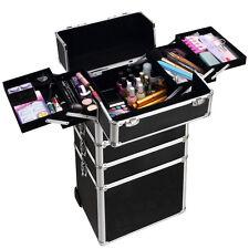 Pro Aluminum Rolling Makeup Cosmetic Wheeled Box Organizer Trolley Train Case US