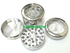 Grinder-Metalico-aluminio-40mm-3-Piezas-Polinizador-Tapa-transparente
