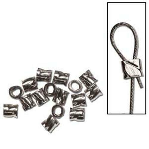 50 Easy Close! FIFTY Sterling Silver .019 Twisted Crimps 2x2mm USA MADE
