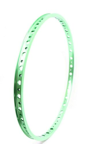 "Technique BMX Holeshot Rims 36h 507mm 29.5mm wide with eyelets 24/"" Green anodize"