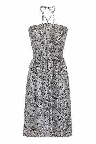 Ladies Summer//Beach Cotton Bandeau Strapless Sun Dress//Maxi Skirt Size 8-22 NEW