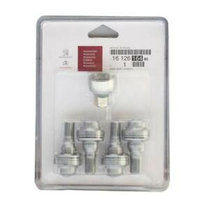 Genuine-Peugeot-Alloy-Wheel-Locking-Wheel-Nut-Bolt-Set-With-Key-1612616480