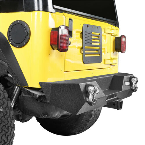 Texture Offroad Rear Bumper w// 2x LED Light for 1987-2006 Jeep Wrangler YJ TJ