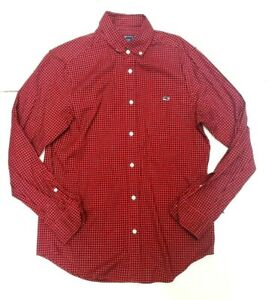 Vineyard-Vines-Red-Long-Sleeve-Button-Down-Classic-Fit-Tucker-Shirt-Mens-Small