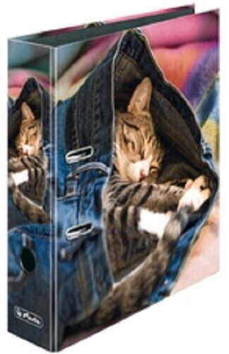 Herlitz Motivordner A4 maX.file Jeans Cat Katze Schuhe Shoes