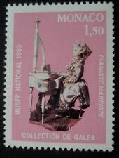 TIMBRE MONACO *  PIANISTE HARPISTE * COLLECTION DE GALEA - MUSEE NATIONAL 1983