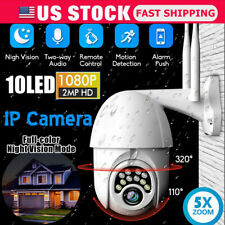 USA 1080p WiFi IP IR Camera Outdoor HD Security Cam Waterproof Ip66 Night Vision