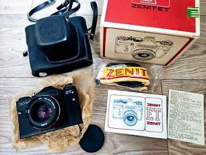 NEU-Zenit-ET-35-mm-SLR-Filmkamera-MC-Helios-44m-4-58-MM-F-2-Objektiv-vintage-UDSSR