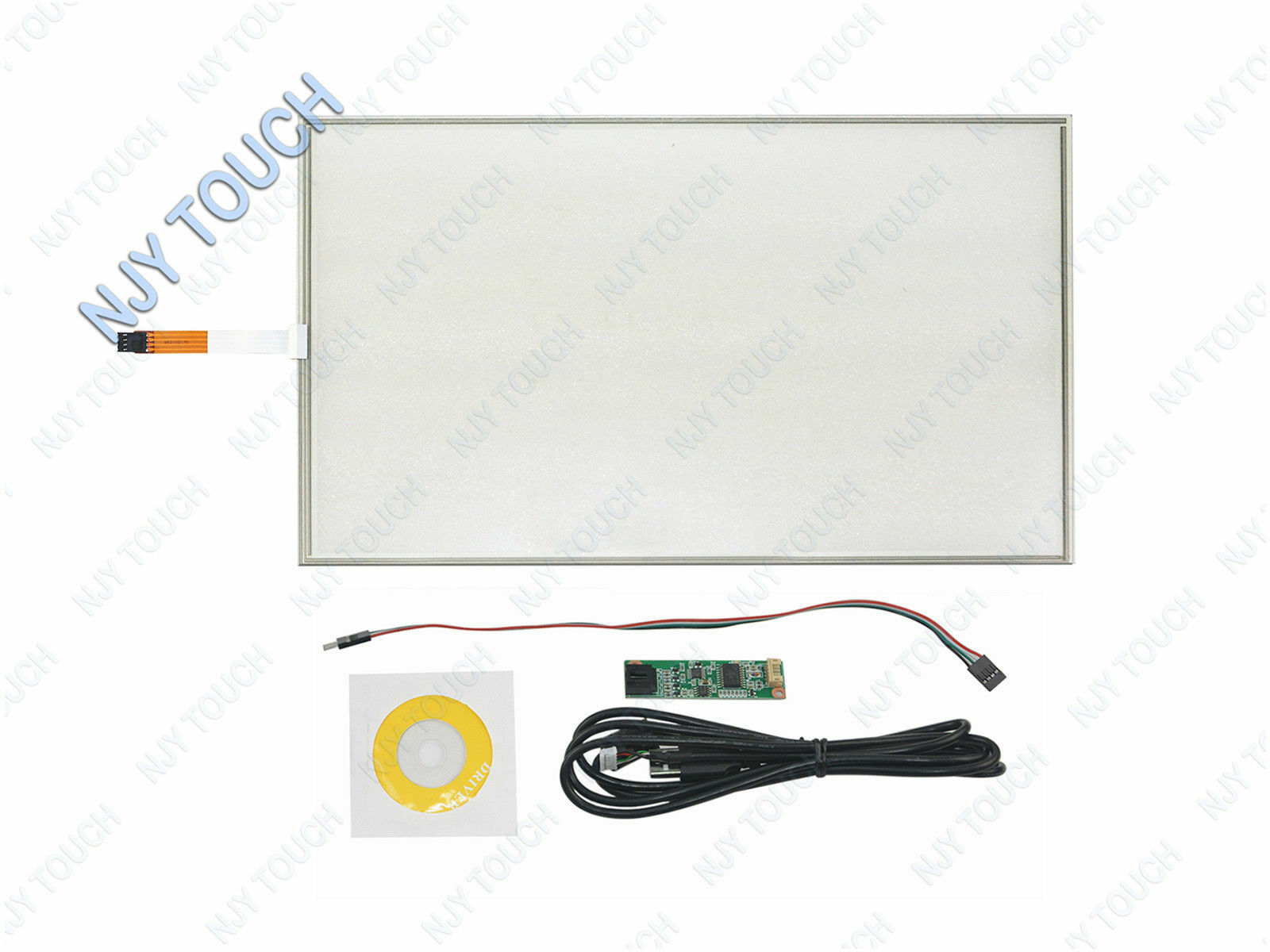 17.1  4Wire Resistive Touch Panel 382x239mm USB Card for 17inch 16 10 LCD Screen