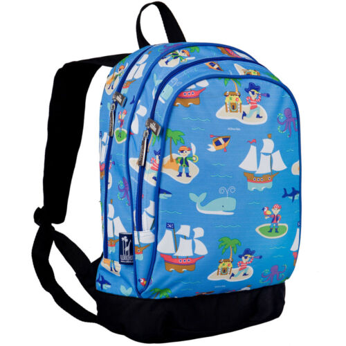 Kindergarten Backpack for children in blue with the name of the child and pirate