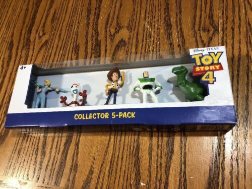 Toy Story 4 Mini Figures Collector 5-pack Disney Pixar Woody Buzz Forky Bo Peep