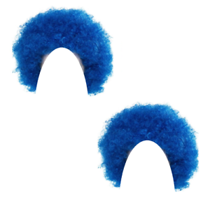 Adults Deluxe Blue Curly World Book Day Week Fancy Dress Costume Wigs x 2