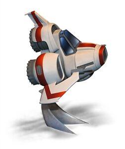 2015 Moebius 944 Battlestar Galactica Super Deformed Viper MKII egg type new