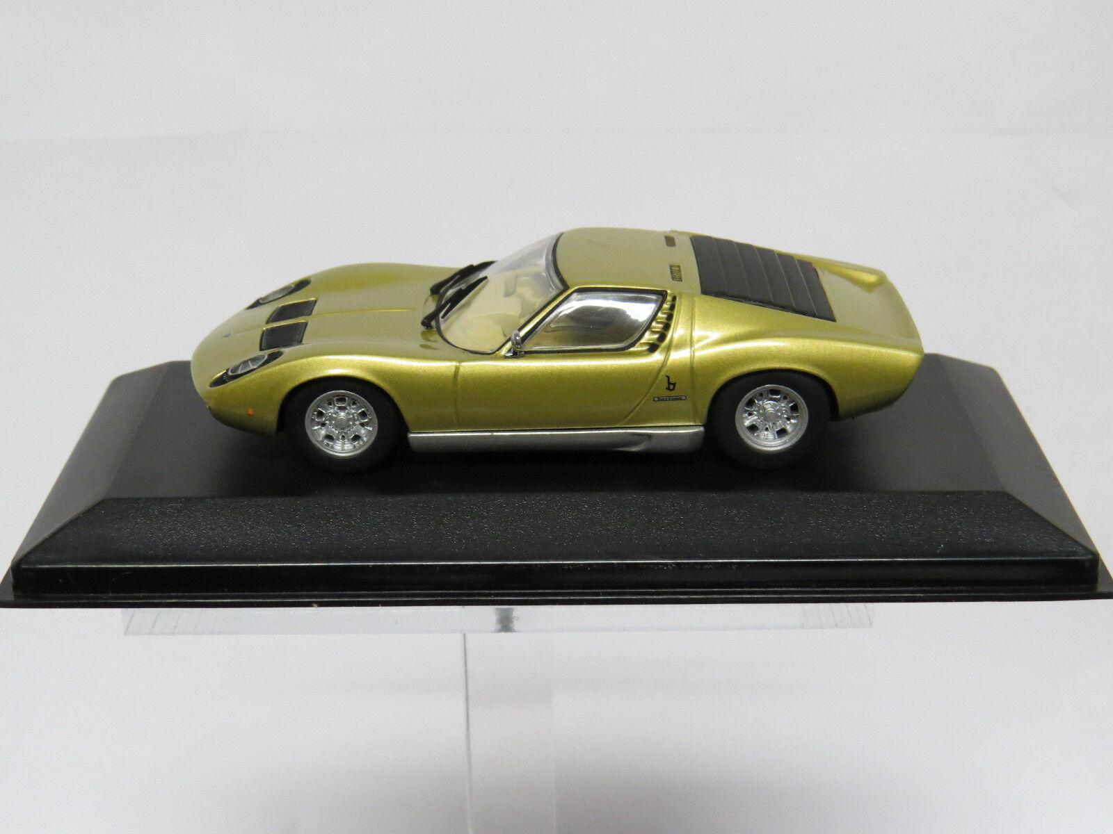Lamborghini Miura 1 43  oro  Minichamps Nr. 430103001