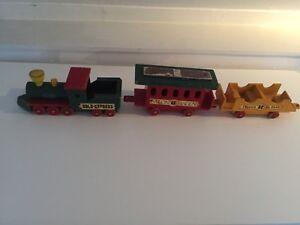 Jouet Ancien Vintage Bois. Le Train Western Gold Express