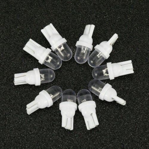 10× T10 12V Glassockel LED Auto Xenon Weiß Lampe Innenraum COB Hell Standlicht