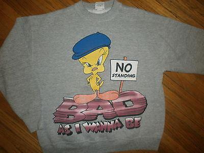 Intelligent Vtg Tweety Vogel Sweatshirt Looney Tunes Bad Da I Wanna Be 90er Jahre Hip Hop Guter Geschmack