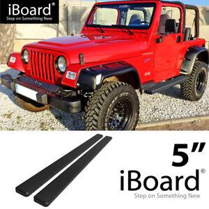 Running-Board-Side-Step-Nerf-Bars-5in-Black-Fit-Jeep-Wrangler-TJ-YJ-2Dr-87-06