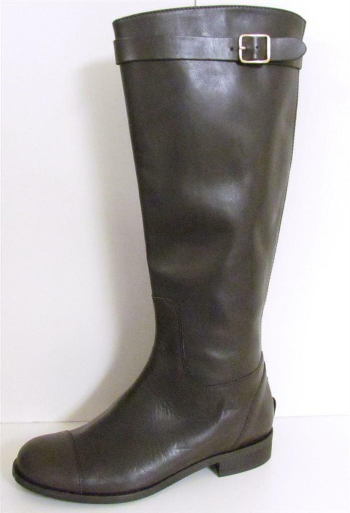 J Crew Felix Leather Estate Brown Extended Calf Boots Boots Boots NEW 5621b8