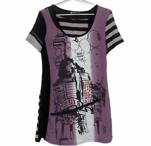 Gabriella Fratini Womens Multicoloured Short Sleeve Dress Size 12