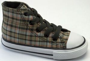 Kids Plaid Hi Converse Olive Grey Originale 714177 qgATSnxx