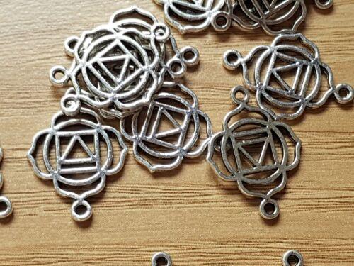 Crafts 10 Tibetan silver YOGA HEALING Charm Pendant Connector Jewellery making