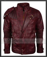 Men's Chris Pratt Guardians Of The Galaxy 2 Peter Quill Star Lord Leather Jacket
