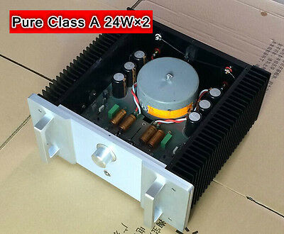 24W×2 Pure Class A Power Amplifier Audio HiFi Stereo amp HD1969 improved version