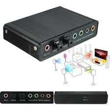 USB External S/PDIF Optical Sound Card Channel 5.1 Box DAC Audio For PC Laptop