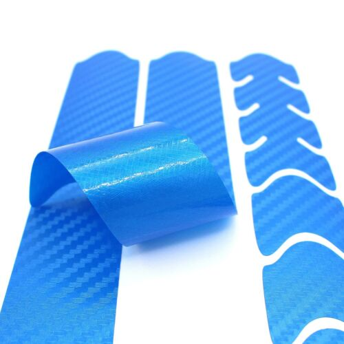 Chainstay Protection V2 Carbon Blue Bicycle Sticker Frame Protection MTB BMX