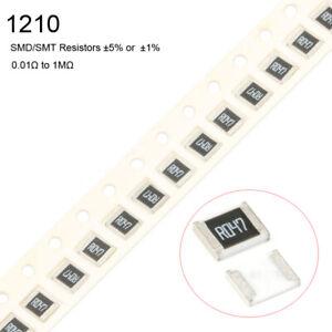 10Pcs-1210-SMD-SMT-Resistors-5-or-1-1-3W-Full-Range-of-Values-0-01-to-1M