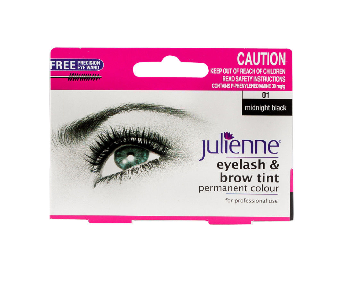 Julienne Eyelash And Eyebrow Permanent Midnight Black 01 Colour Tint