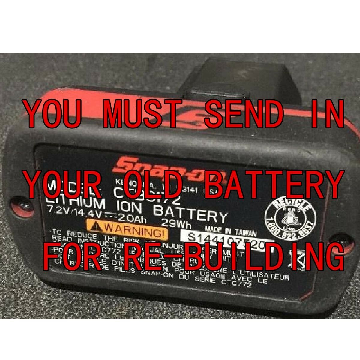 Battery Rebuild For SNAP ON  14.4V CTB8172 CTB8172G CTB7172 CTB7172G CTB81720