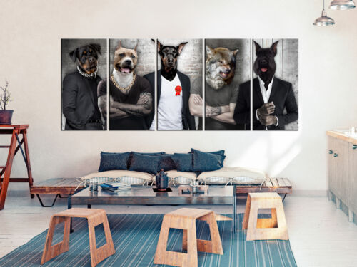 Murals XXL Animals Dogs People Canvas Pictures Living Room g-c-0062-b-m