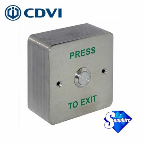 CDVI Surface Mount Stainless Steel Request To Exit Button RTE-SS
