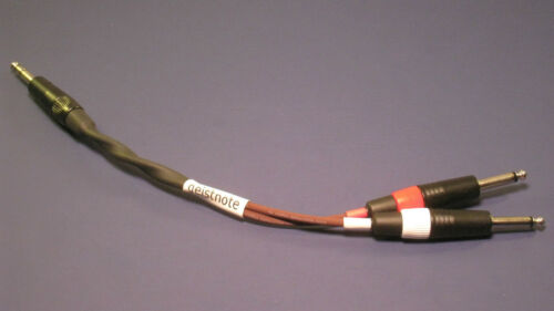 """Y Cable ~ Geistnote Evidence Audio Monorail TRS to Stereo TS Neutrik 12/"""" Cable"""