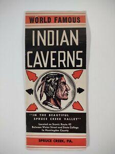 Spruce Creek PA 1940s Brochure CAVERNS Huntingdon County Tourist Map