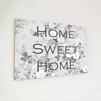 Wooden plaque A4 printed custom personalised home sweet home wood shabby chic