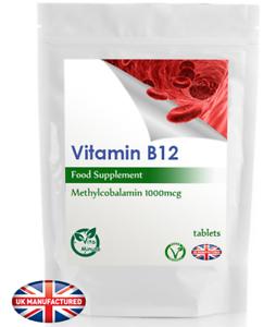 La-vitamina-B12-1000mcg-ad-alta-resistenza-metilcobalamina-30-60-90-120-180-compresse-Regno-Unito
