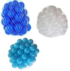 150-9000 Piscine De Balles 55mm Mélange Turquoise Transparent Bleu Assortiment