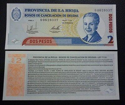 Cordoba ARGENTINA EMERGENCY BANKNOTE ½ Activo UNC 2002
