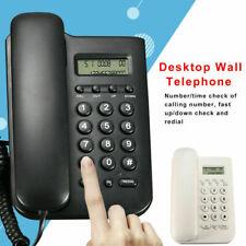 Fskdtmf Lcd Desktop Home Office Wall Mount Office Corded Phone Caller Telephone